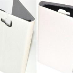 Toc Flip Piele Ecologica Allview P5 Quad Orizontal Alb - Husa Telefon