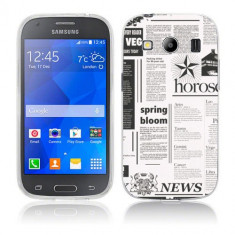 Husa Samsung Galaxy Ace 4 G357 Silicon Gel Tpu Model Newspaper - Husa Telefon