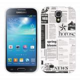 Husa Samsung Galaxy S4 i9500 i9505 Silicon Gel Tpu Model Newspaper
