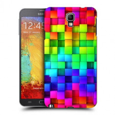 Husa Samsung Galaxy Note 3 Neo N7505 Silicon Gel Tpu Model Colorful Cubes