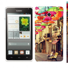 Husa Huawei Ascend Y530 Silicon Gel Tpu Model Vintage Umbrella - Husa Telefon