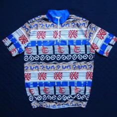 Tricou ciclism vintage; marime L (dame 44/46, barbati 52/54), vezi dim.; ca nou - Echipament Ciclism