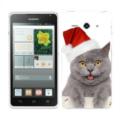 Husa Huawei Ascend Y530 Silicon Gel Tpu Model Craciun Christmas Kitty - Husa Telefon