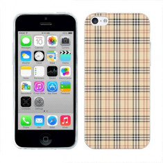 Husa iPhone 5C Silicon Gel Tpu Model Burberry Pattern - Husa Telefon