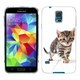 Husa Samsung Galaxy S5 G900 G901 Plus G903 Neo Silicon Gel Tpu Model Pisicuta