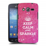Husa Samsung Galaxy Core 4G LTE G386F Silicon Gel Tpu Model Keep Calm Sparkle