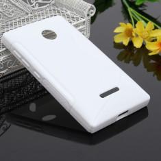 Husa Microsoft Lumia 435 Silicon Gel Tpu S-Line Alba - Husa Telefon
