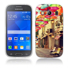 Husa Samsung Galaxy Ace 4 G357 Silicon Gel Tpu Model Vintage Umbrella - Husa Telefon