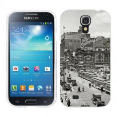 Husa Samsung Galaxy S4 i9500 i9505 Silicon Gel Tpu Model Vintage City - Husa Telefon