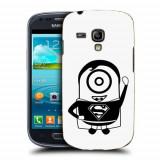 Husa Samsung Galaxy S3 Mini i8190 Silicon Gel Tpu Model Minion Superman