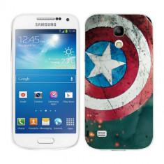 Husa Samsung Galaxy S4 Mini i9190 i9195 Silicon Gel Tpu Model Captain America - Husa Telefon