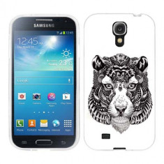 Husa Samsung Galaxy S4 i9500 i9505 Silicon Gel Tpu Model Tiger Abstract - Husa Telefon