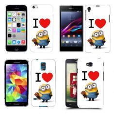 Husa Xiaomi Mi 4i / Mi 4c Silicon Gel Tpu Model I Love Minions - Husa Telefon