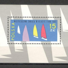 Polonia.1965 C.M. de yachting-Bl. SP.135 - Timbre straine, Nestampilat