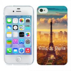 Husa iPhone 4S Silicon Gel Tpu Model Paris - Husa Telefon Apple, iPhone 4/4S
