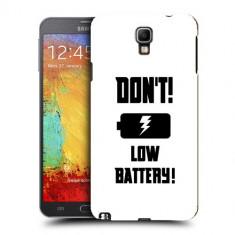 Husa Samsung Galaxy Note 3 Neo N7505 Silicon Gel Tpu Model Low Battery - Husa Telefon