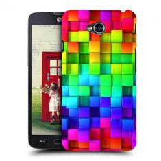 Husa LG L70 Silicon Gel Tpu Model Colorful Cubes - Husa Telefon