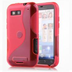 Husa Motorola Defy MB525 / Defy+ MB526 Silicon Gel Tpu S-Line Roz - Husa Telefon