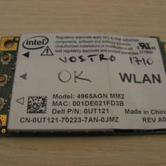 Placa de retea wireless laptop Dell Vostro 1710, Intel 4965AGN, 0UT121