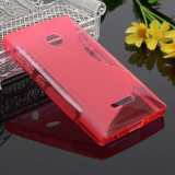 Husa Microsoft Lumia 435 Silicon Gel Tpu S-Line Roz