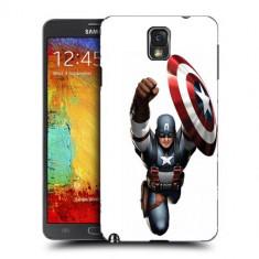 Husa Samsung Galaxy Note 3 N9000 N9005 Silicon Gel Tpu Model Captain America Figure - Husa Telefon