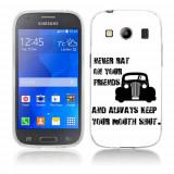 Husa Samsung Galaxy Ace 4 G357 Silicon Gel Tpu Model Never Rat On Your Friends B&W