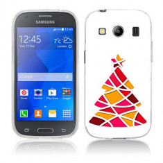 Husa Samsung Galaxy Ace 4 G357 Silicon Gel Tpu Model Brad De Craciun Abstact - Husa Telefon