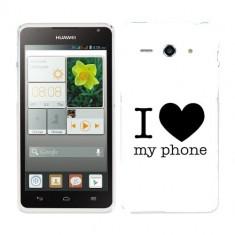Husa Huawei Ascend Y530 Silicon Gel Tpu Model I Love My Phone B&W - Husa Telefon