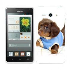 Husa Huawei Ascend Y530 Silicon Gel Tpu Model Brown Puppy - Husa Telefon