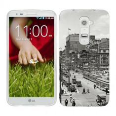 Husa LG G2 Silicon Gel Tpu Model Vintage City - Husa Telefon