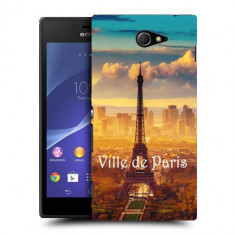 Husa SONY Xperia M2 Silicon Gel Tpu Model Paris - Husa Telefon