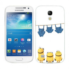 Husa Samsung Galaxy S4 Mini i9190 i9195 Silicon Gel Tpu Model Naked Minions - Husa Telefon