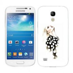 Husa Samsung Galaxy S4 Mini i9190 i9195 Silicon Gel Tpu Model Women Draw V2 - Husa Telefon