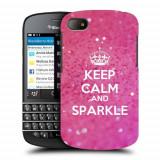 Husa BlackBerry Q10 Silicon Gel Tpu Model Keep Calm Sparkle