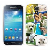 Husa Samsung Galaxy S4 i9500 i9505 Silicon Gel Tpu Model Puppies Collage