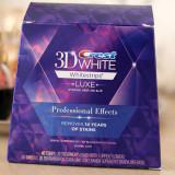 Albirea dintilor cu Crest Whitestrips LUXE Professional Effects 10 plicuri
