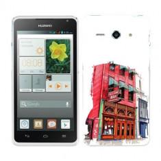 Husa Huawei Ascend Y530 Silicon Gel Tpu Model Old Town Bar - Husa Telefon