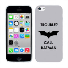 Husa iPhone 5C Silicon Gel Tpu Model Batman - Husa Telefon Apple