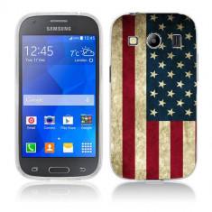 Husa Samsung Galaxy Ace 4 G357 Silicon Gel Tpu Model USA Flag - Husa Telefon