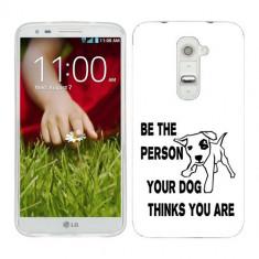Husa LG G2 Silicon Gel Tpu Model Be Good B&W - Husa Telefon