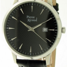 Ceas Pierre Ricaud barbatesc cod P91023.5214Q - pret 299 lei (NOU; original) - Ceas barbatesc Pierre Ricaud, Casual, Quartz, Inox, Piele, Data