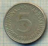 10671 MONEDA- YUGOSLAVIA - 5 DINARA -anul 1991 -STAREA CARE SE VEDE