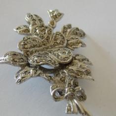 Brosa argint cu marcasite -1860