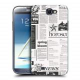 Husa Samsung Galaxy Note 2 N7100 Silicon Gel Tpu Model Newspaper