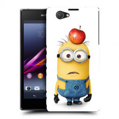 Husa SONY Xperia Z1 Compact Silicon Gel Tpu Model Minions - Husa Telefon