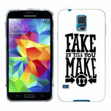 Husa Samsung Galaxy S5 G900 G901 Plus G903 Neo Silicon Gel Tpu Model Fake It