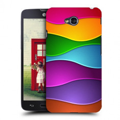 Husa LG L70 Silicon Gel Tpu Model Rainbow Abstract - Husa Telefon