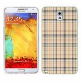 Husa Samsung Galaxy Note 3 N9000 N9005 Silicon Gel Tpu Model Burberry Pattern