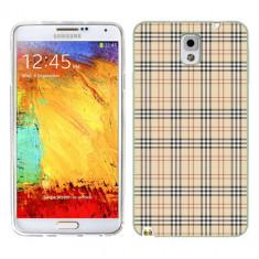 Husa Samsung Galaxy Note 3 N9000 N9005 Silicon Gel Tpu Model Burberry Pattern - Husa Telefon