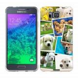 Husa Samsung Galaxy Alpha G850F Silicon Gel Tpu Model Puppies Collage